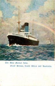 The Blue Funnel Line - Oceanliner      Artist: Wilkinson