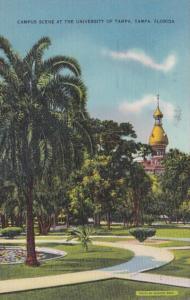 Florida Tampa Campus Scene At The University Of Tampa 1939