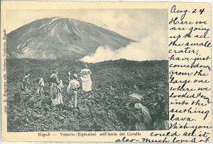 CARTOLINA d'Epoca - NAPOLI : VESUVIO 1905
