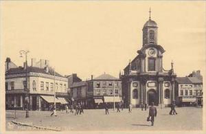 Belgium Charleroi Place de la Ville Haute et l'Eglise High Town Market &  ...