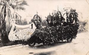 Pasadena CA Rose Bowl Parade Float~RPPC 1908 As Is