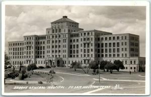 San Antonio, Texas RPPC Photo Postcard BROOKE GENERAL HOSPITAL Fort Sam Houston