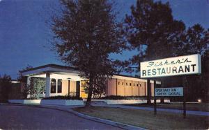 Wilmington North Carolina Fishers Restaurant At Night Vintage Postcard K70726