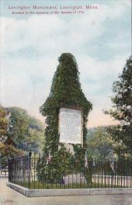 Massachusetts Lexington Monument 1910