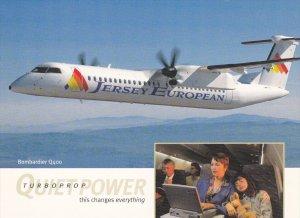 Jersey European Bombardier Q400 Turboprop Airplane , 80-90s