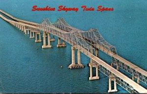 FLorida St Petersburg Sunshine Skyway Bridge Twin Spans