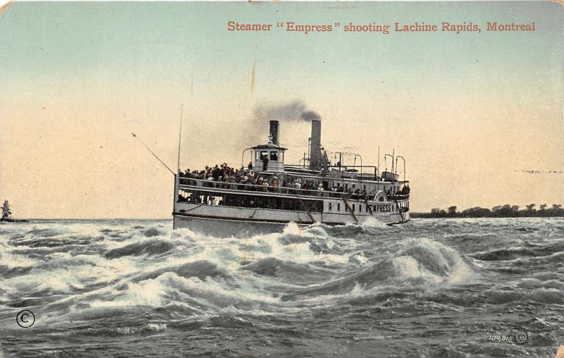 Montreal Quebec~Steamer Ship Empress @ Saint Lawrence River Lachine Rapids~'10