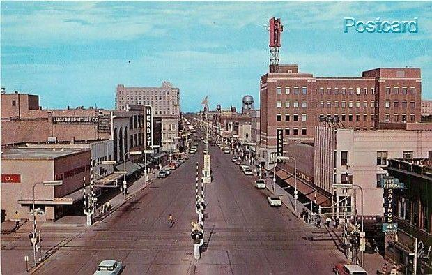 ND, Fargo, North Dakota, Broadway Looking North, Dexter Press 84048-B