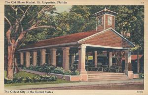 Old Slave Market, St. Augustine, Florida, early postcard, Unused