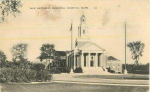 Postcard War Memorial Building, Newtown, MA