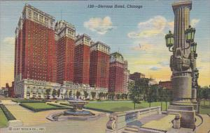The Stevens Hotel Chicago Illinois 1943 Curteich