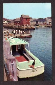 MA Town Landing Boat Harbor ROCKPORT MASS Postcard PC
