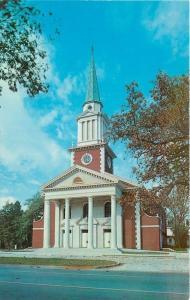 Aiken South Carolina~First Baptist Church~1960s Postcard