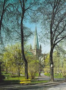 Nidaros Cathedral, Springtime In The Surrounding Park Trondheim, Norway, 1960...