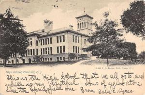 Montclair New Jersey High School Street View Antique Postcard K42476