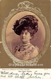 Miss Grace Palotta Theater Actor / Actress 1904 wear left edge