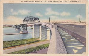Peace Bridge Across Niagara River, Connecting Canada And BUFFALO, New York, P...