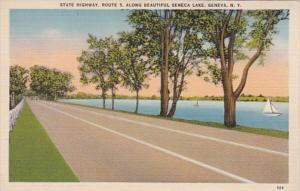 New York Geneva State Highway Route 5 Along Seneca Lake