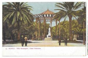Italy Napoli Villa Municipale Cassa Armonica Naples Postcard