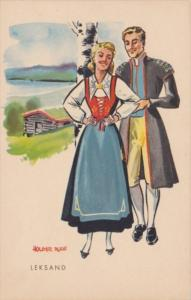 Sweden Leksand Local In Traditional Costume