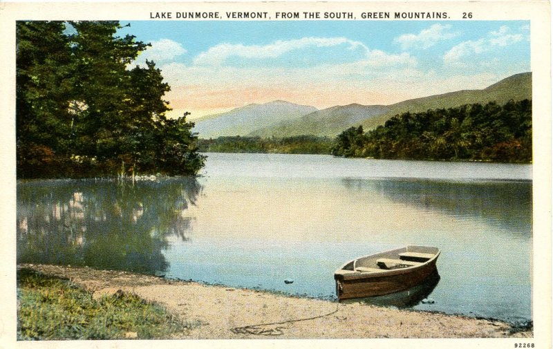 VT - Lake Dunmore. View from the South