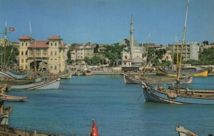 Bandirma Turkish River Boats Turkey Postcard