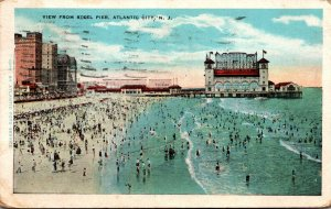 New Jersey Atlantic City View From Steel Pier 1930