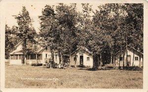 LP59   Houghton Lake  Michigan  Postcard RPPC Grove Hotel