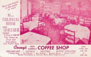 SALT LAKE CITY , Utah, 1950-1960s; Coffee Shop , Covey's American Motor Lodge