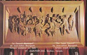 Town Council, By Jean-Julien Bourgault, Famous Wood Carver, ST. JEAN-PORT-JOL...