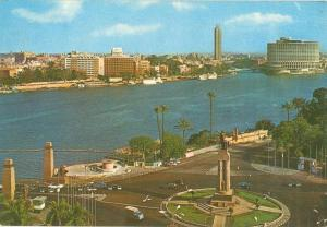 Egypt, Cairo, General View on the Nile 1960s unused Postcard