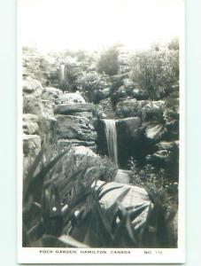 Pre-1949 rppc WATERFALLS IN ROCK GARDENS Hamilton ON o1463