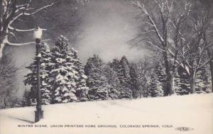 Colorado Colorado Springs Winter Scene Union Printers Home Grounds