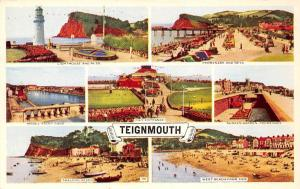 Teignmouth Lighthouse and Ness, Promenade, Model Yacht Pond, Pier Entrance