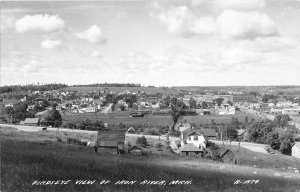 G21/ Iron River Michigan RPPC Postcard c1940s Birdseye View Homes