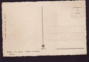 P1506 vintage art unused roma via appa tomba di cecilla metella rome italy