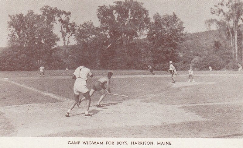 HARRISON , Maine, 1940s ; Camp Wigham for Boys ; Baseball