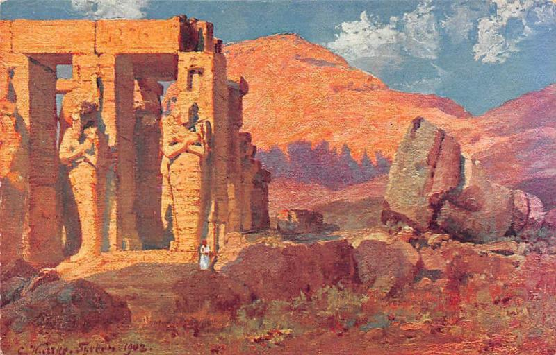 Egypt Ramesseum in Thebes 1903