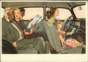 Auto Car Advertising Mercedes-Benz Type 170 S c1930s-40s Postcard
