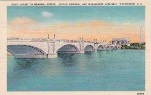 Washington DC Arlington Memorial Bridge Lincoln Memorial And Washington Monument