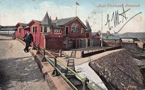 Boat Clubhouse, Greenock, Scotland, Great Britain, Early Postcard, Used in 1906