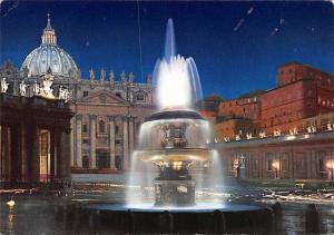 Citta del Vaticano Piazza S. Pietro di Notte Fountain St. Peter's Square