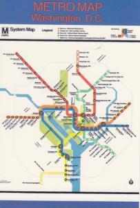 WASHINGTON D.C. , 50-70s ; METRO Map of Subway