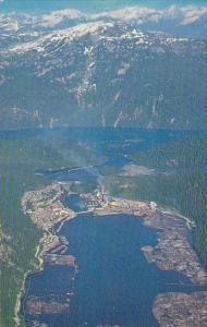 Canada British Columbia Aerial View Ocean Falls