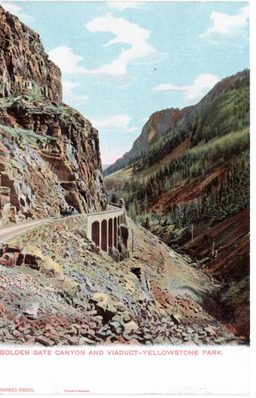 Golden Gate Canyon and Viaduct, Yellowstone National Park, pre-1907