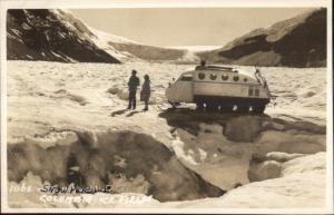 Byron Harmon 1066 Snowmobile Columbia Ice Glacier Real Photo Postcard