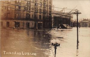 E55/ Dayton Ohio Real Photo RPPC Postcard 1913 Flood Disaster 3rd Ludlow 8