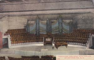 SPARTANBURG, South Carolina, PU-1910; Pipe Organ, Converse College Auditorium