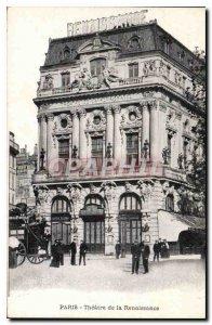 Old Postcard Paris Theater of the Renaissance