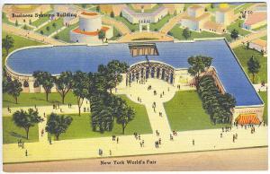 1939 New York World's Fair Business Systems & Insurance Buildings Postcard